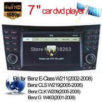 Multi language In-Dash HD Digital Screen Car DVD player for BENZ W211 W219 W463 Stereo Radio Bluetooth Phone GPS Navigation USB