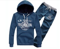 Free Shipping 2014 hot sale! Mens Hoodies and Sweatshirts coat mens fashion casual sports wear set sweat suit