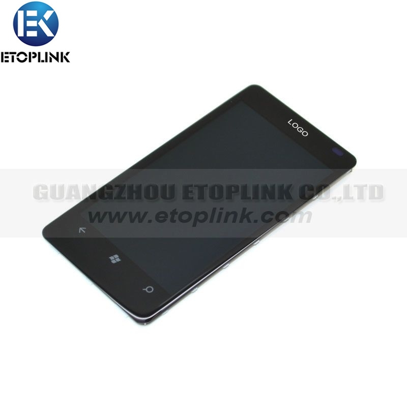 For Nokia Lumia 800 LCD Digitizer Touch Screen Glass Assembly with Frame Replacement Free Shipping(China (Mainland))
