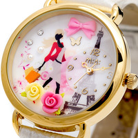 Mini Polymer clay hand for cartoon watches gentle women fashion table ladies Cartoon watch