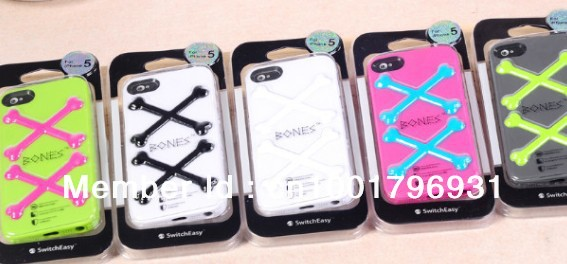 WHOLESALES FREE SHIPPING BONE STYLE HIGH QUALITY CELL PHONE CASE FOR APPLE IPHONE 5 WITH RETAIL PACKAGE#20130124006(China (Mainland))