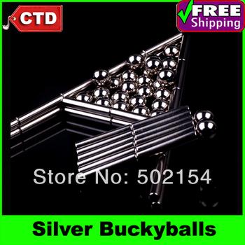 Silver Buckyballs Neocube Magic Cube 27pcs Diameter 8mm Magnetic Balls 36pcs Diameter 4mm Length 23mm Magnetic Stripe