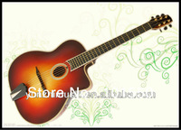 New Year discount stock. handmade gyspy guitar with solid wood.