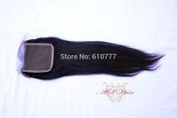 """Vir-gin Hair Closure 4""""x4"""" Size Straight 10""""-20"""" hu-man hair extension free shipping"""