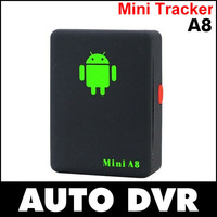 10Pcs/lot Mini A8 GPS GSM GPRS Car Vehicle Real Time SMS SOS Tracker Tracking Device.Fast shipping