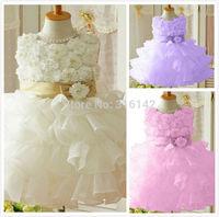 Retail sleeveless Waist Chiffon Dress ---1pcs single sale of children dress girl skit W-01