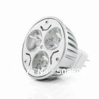Freeshipping 2013 MR16 3W 12V White 3 LED Bulb Spot Light Lamp Downlight 10Pcs/lot +Dropshipping