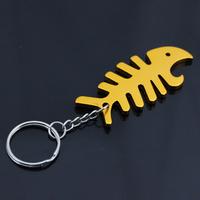 Wholesale Fish Bone Bottle Opener Keychain Bear Promotion Gift Factory Outlet
