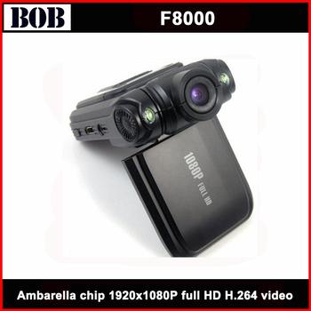 Hot ! Original F8000 Car black box  Full HD  1920*1080 Ambarella chip Freeshipping