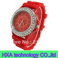 2013 hot sale geneva silicone watch , round diamond women watch , fashion girl watch ,elegant watch
