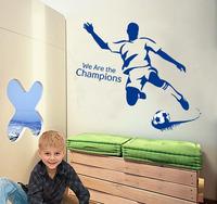 Boy's room decoration,play football wall stikcer,sport boy,high quality wall sticker,free shipping wall art