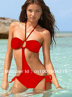fashion Sexy Lycra women Swimwear 1280 girls bikini set white, red, black 3 colors wholesale lingerie retail