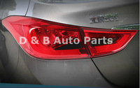 Very Popular Hyundai Elantra 2012' led tail lamps with light guide style for free shipping