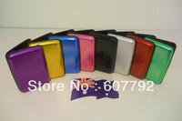 Free Shipping (600pcs/lot) Aluminum Wallet As Seen On TV Aluma Wallet Credit Card Holder RFID Blocking--8Colors