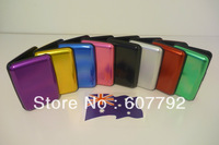 Free Shipping (600pcs/lot) Aluminum Wallet As Seen On TV Aluma Wallet Credit Card Holder RFID Blocking--8Colors