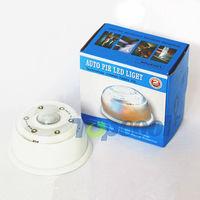 6-LED PIR Auto Sensor LED Infrared Light Lamp Motion Detector Lighting, free shipping 2pcs/lot