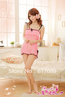 Qiu dong season new pajama NvRou yarn transparent condole belt of bud silk nightgown frenum temptation