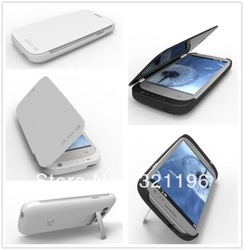 3200mAh External Backup Battery Leather Case Power bank for Samsung Galaxy S3 III i9300 Free Shipping with retail packing(China (Mainland))