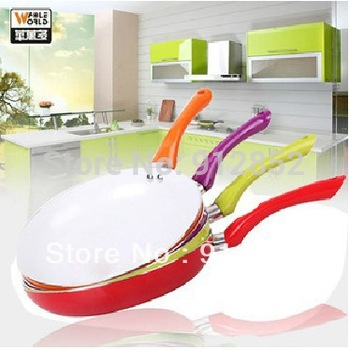 Hot Selling Ceramic Pan 26cm Eco Friendly Healthy Ceramic Coating Nonstick Frying Pan 4 Colors Available Free shipping