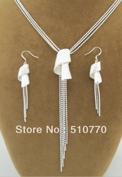 wholesale- Hotsell sterling silver 925 jewelry set.Fashion silver jewelry set.925 silver set. free shipping.(China (Mainland))