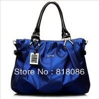 Women's shoulder bag  shinny PU pleated handbag