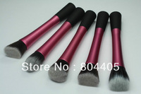 Free shipping! colors powder brush, 5pcs makeup brush set, long metal Ferrule makeup brush  5pcs/ set
