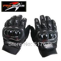 FREE SHIPPING 100%authentic pro-biker moto gloves M L XL XXL black red blue