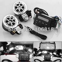 Waterproof FM Radio Music Stereo Sound System AUX MP3 Speaker Motorcycle ATV UTV