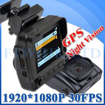 1920 * 1080P 30fps  Car dvr Camera Recorder V5000GS with Ambarella Chip GPS Logger  Support  IR Night Vision G-Sensor  H.264