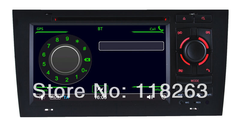 Factory price 7 inch Digital Touch Screen HD For Audi A6 S6 Car DVD Player Stereo