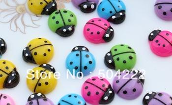 200pcs mixed lovely Polka Dot Ladybug Cab 20mm Cell phone decor, hair accessory supply, embellishment, DIY project supply