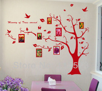 High quality! Large 130cm*170cm! with  donald pooh!Photo Frames Tree DIY Removable Art Vinyl Wall Stickers Decor Mural Decal