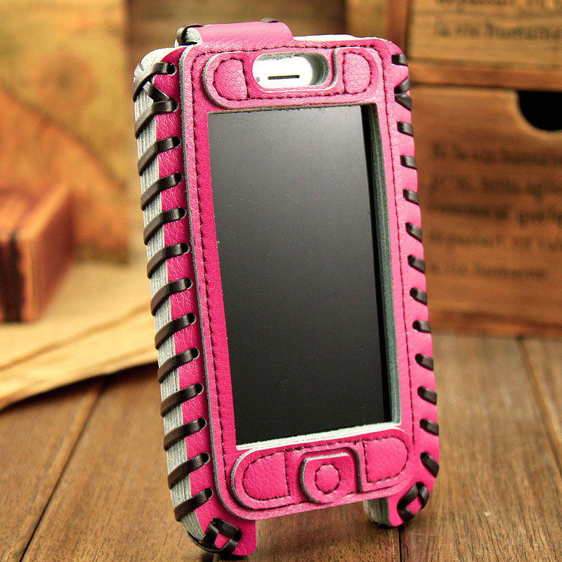 PROMOTION 10 PCS/Lot Free Shipping Natural SHOWKOO Genuine 3 layer Cow Leather Skin For Apple iPhone 5 Leather Pouch Case(China (Mainland))