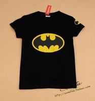 Free shipping women black Batman short-sleeve 100% cotton t-shirt lady t shirt