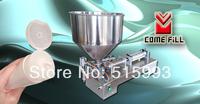 30L hopper+ horizontal type pneumatic + 5-300ml single nozzle liquid or paste filling machine