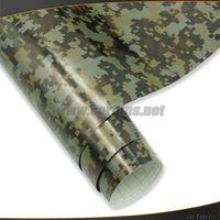 Digital Camouflage Vinyl Car Wrap air bubble free