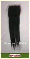 Free shipping New arrival lace top closure 4x3.5 inch Real Malaysian virgin human hair lace front closure