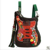 National trend embroidered handmade female bags fashion  large shoulder bag personalized messenger bag nylongtr