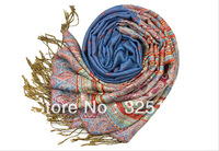 NEW SUPER SOFT P01301 PASHMINA SILK CASHMERE SHAWL SCARF WRAPS STOLE NECK WARMER  FREE SHIPPING