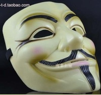 SALE v vendetta mask pp guy fawkes masquerade masks v mask vmask free shipping 100 yellow