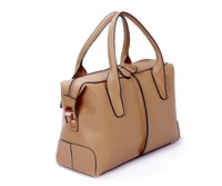 Hot selling High Quality Genuine leather bags women brand shoulder handbag black beige free shipping retail and wholesale