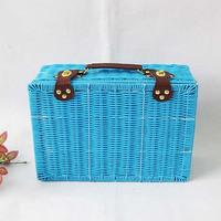 KINGART Classic blue double buckles suitcase Large storage box for clothing storage box