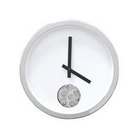 12 Inch Home Decoration Single Eye Gear Wall Clock, Metal Clock/Watch  Modern Design Clock, Creative Gift, Black & White