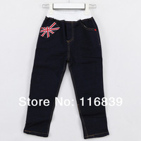 2013 Spring Fashion Warm Pants for Boys America Flag Designer Kids Jeans Children Trousers Wholesale Overalls Clothes New kz0361