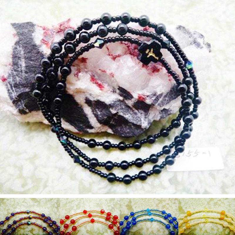 [s155] black agate bracelet rosary 4mm(China (Mainland))