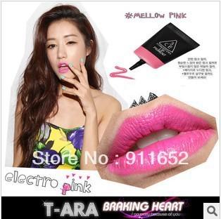 Free Shipping 12pcs/lot 3 concept eyes Lip Pigment, 3CE Stylenanda Lip makeup Candy Color Liquid Lip Gloss, 8 Color 11g