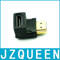 HDMI 19Pin Male to HDMI 19Pin Female 90-degree Angle Adapter (Gold Plated) Free Shipping