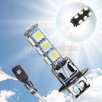 4pcs H3 13 SMD 5050 Pure White Fog lamps  Signal 13 LED Car Light Lamp Bulb 12V car styling led car light source parking