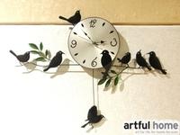 Free shipping, wall clock Happy Birds Theme Wall Clock with Pendulum Home Decor, fashion clock