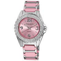 Free Shipping Akribos XXIV Women's Quartz Crystal Ceramic Bracelet Watch women rhinestone watches